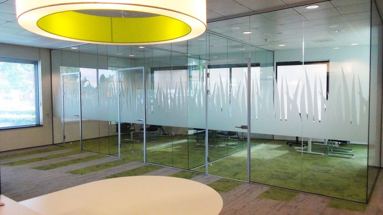 Glaswand decoratie – Rabobank