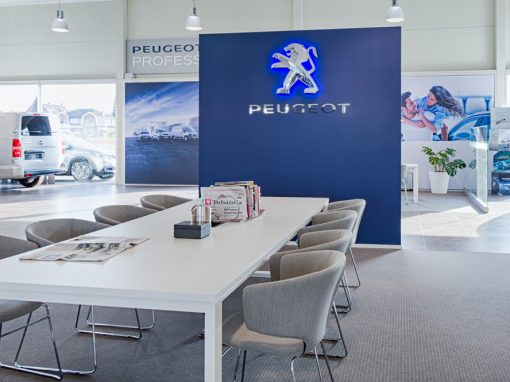 Restyling Peugeot Blue Box showrooms